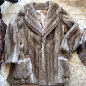 Vintage Fur Suede Jacket
